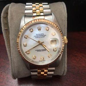 Rolex 36m 2 toneDatejust 2003 Quickset Mint